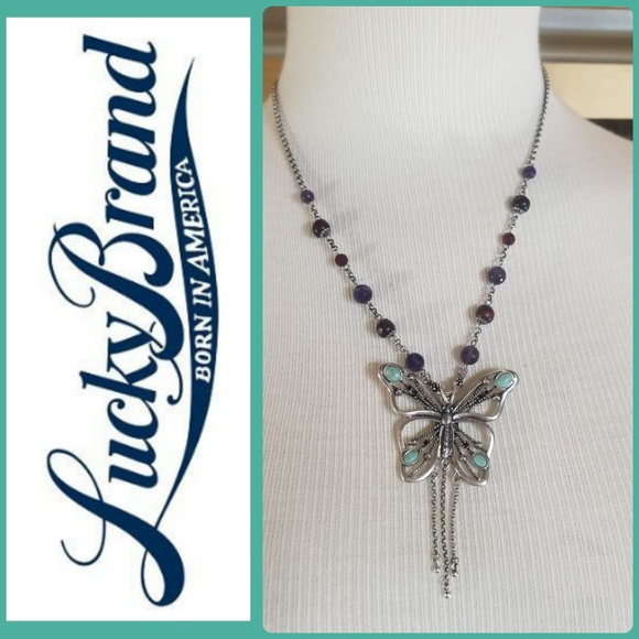 Lucky Brand Jewelry - LUCKY BRAND BUTTERFLY STONE NECKLACE!